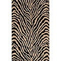 "Power-Loomed Bengal Charcoal Rug (5'0""x8'0"")"