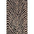 "Power-Loomed Bengal Charcoal Rug (8'0""x10'0"")"