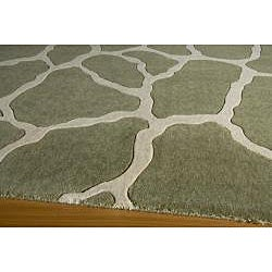 Power-Loomed Giraffe Sage Rug (5' x 8')