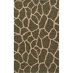 Power-Loomed Giraffe Sage Rug (8' x 10')