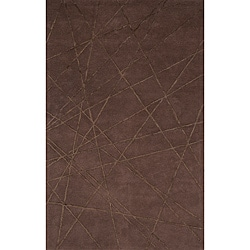 Hand-Tufted Shimmer Brown Rug (8' x 10')