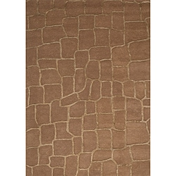 Hand-tufted Shimmer Gold Rug (8' x 10')