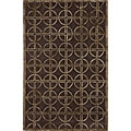 Hand-tufted Shimmer Circles Brown Rug (2' x 3')