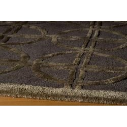 Hand-tufted Shimmer Circles Brown Rug (5' x 8')