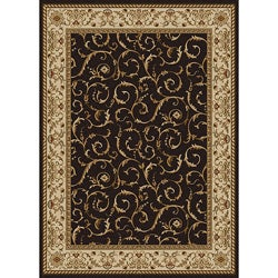 Amalfi Scroll Olefin Area Rug (5'5