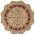 Nourison Hand-tufted Heritage Hall Beige Wool Rug (6' x 6')