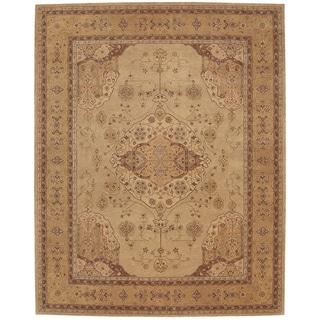 Nourison Hand-Tufted Heritage Hall Persian-Inspired Gold Wool Rug (5'6 x 8'6)