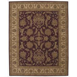 "Nourison Hand-Tufted Heritage Hall Traditional Burgundy Wool Rug (5'6"" x 8'6"")"