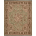 Nourison Hand-tufted Heritage Hall Green Wool Rug (7'9 x 9'9)