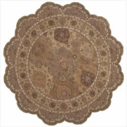 Nourison Hand-tufted Heritage Hall Multi Rug (8' x 8') Free Form