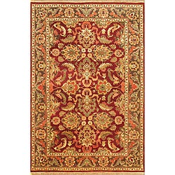 Hand Knotted Maharaja Finest Red Wool Rug (6' x 9')