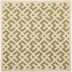 Poolside Green/ Bone Indoor Outdoor Rug (6'7 Square)