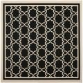 "Poolside Black/Beige Indoor/Outdoor Area Rug (6'7"" Square)"