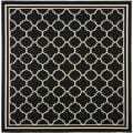 Poolside Black/ Beige Indoor Outdoor Rug (6'7 Square)