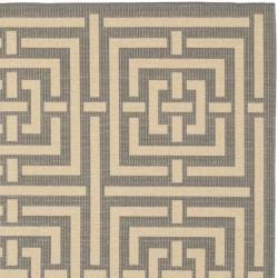 Poolside Grey/ Cream Indoor Outdoor Rug (6'7 Square)
