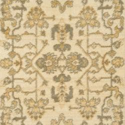 Oushak Cream/ Cream Powerloomed Rug (2'6 x 4')