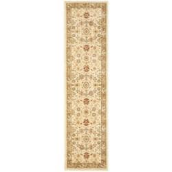 Safavieh Oushak Cream/ Green Powerloomed Rug (2'3 x 8')
