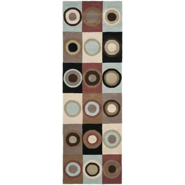 Safavieh Handmade Soho Checkers New Zealand Wool Rug (2'6 x 8')