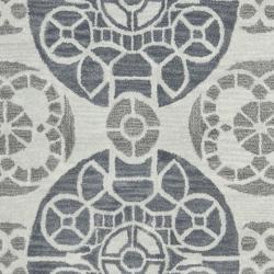 Safavieh Handmade Chatham Treasures Silver New Zealand Wool Rug (4' x 6')