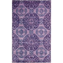 Safavieh Handmade Chatham Treasures Purple New Zealand Wool Rug (5' x 8')