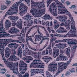Handmade Chatham Treasures Purple New Zealand Wool Rug (8' x 10')