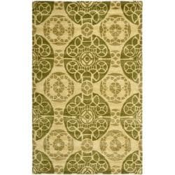 Handmade Chatham Treasures Honey New Zealand Wool Rug (8' x 10')