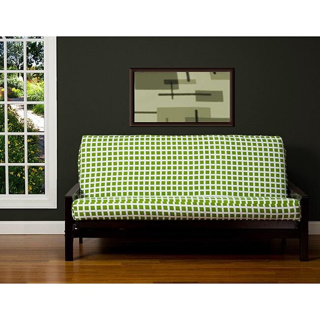 Block Island Green 7-inch Full-size Futon Cover