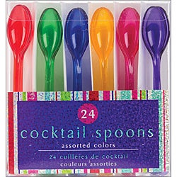 Assorted Colors Cocktail Spoons