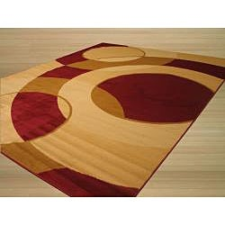 Rafa Red/ Beige Area Rug (7'10 x 9'10)