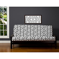 Well Rounded Black/Grey/White 7-inch Full-size Futon Cover