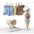 Baby Aspen Sweet Feet Three Scoops of Socks Gift Set in Blue