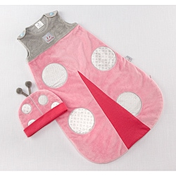 Baby Aspen Snug as a Bug Ladybug Snuggle Sack Gift Set