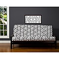 Well Rounded Black/Grey/White 6-inch Full-size Futon Cover