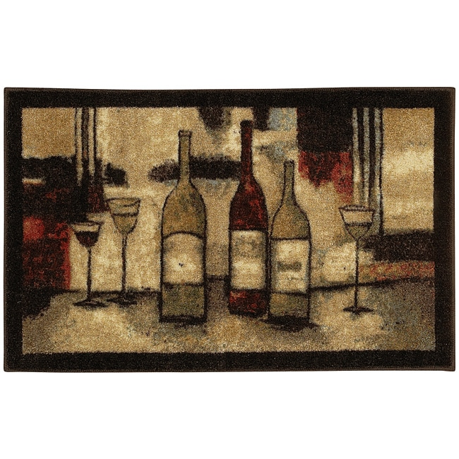 Mohawk Home Wine And Glasses Brown Kitchen Rug (1'9 x 2'10)