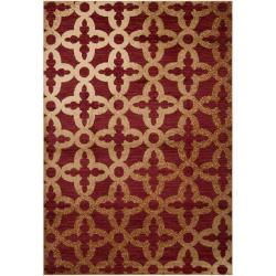 Woven Red Armoire Olefin Rug (5'3 x 7'6)