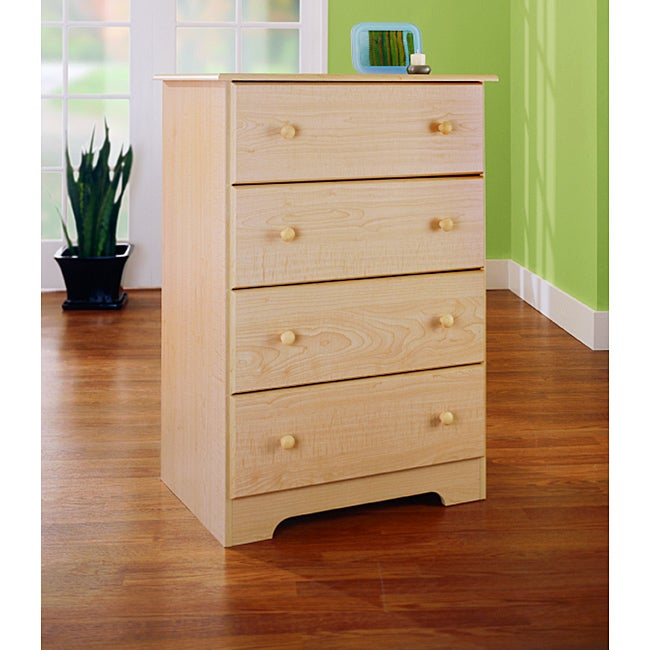 Sycamore Maple-finish 4-drawer Chest