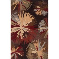Hand-tufted Brown Tucana Polyester Rug (3'6 x 5'6)
