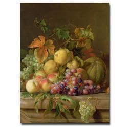 Jacob Bogdany 'A Fruit Still Life' Medium Canvas Art