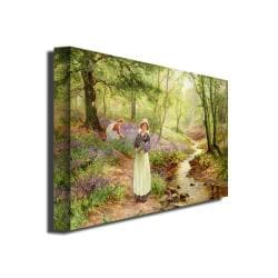 "Ernest Walbourn 'The Bluebell Glade' Canvas Art (16"" by 24"")"