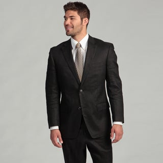 Sean John Men's Black Two-button Linen Suit