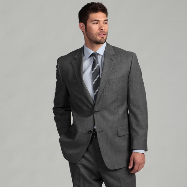 MICHAEL Michael Kors Men's Grey Sharkskin Suit