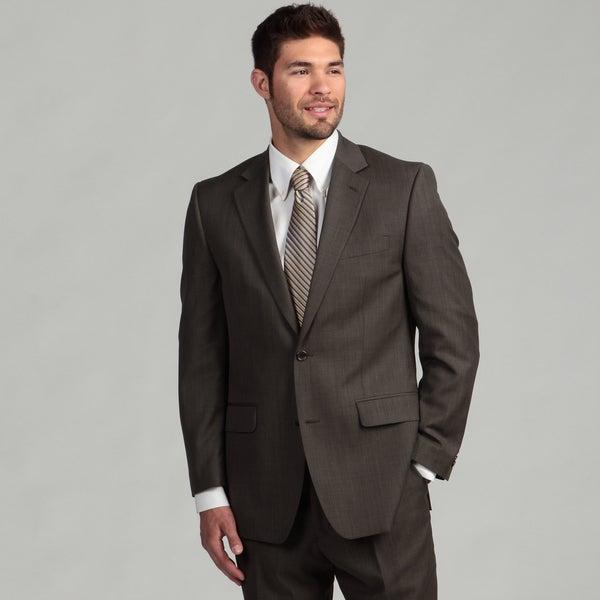 MICHAEL Michael Kors Men's Olive Sharkskin 2-button Suit FINAL SALE