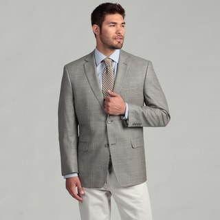 Joseph Abboud Men's Cream/Blue Houndstooth Sports Coat