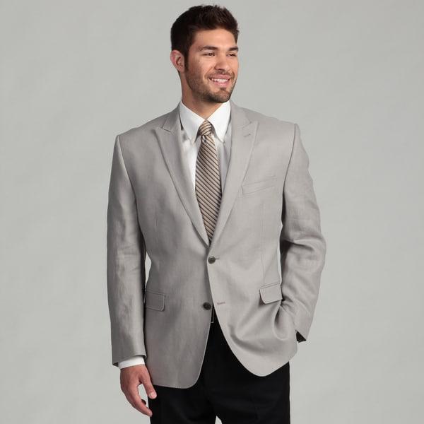 Calvin Klein Men's Grey Linen Sports Coat