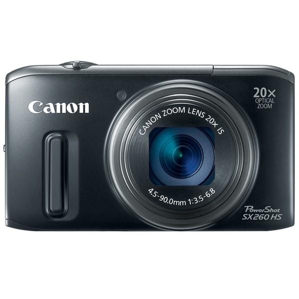 Canon PowerShot SX260 HS 12MP Black Digital Camera