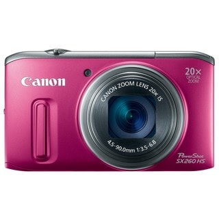 Canon PowerShot SX260 HS 12MP Red Digital Camera
