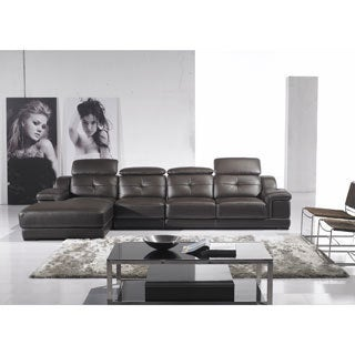 Furniture of America Sidney 3-piece Adjustable Backrests Sectional with Chaise and Chair Set