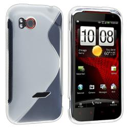 Frost White S Shape TPU Rubber Skin Case for HTC Vigor