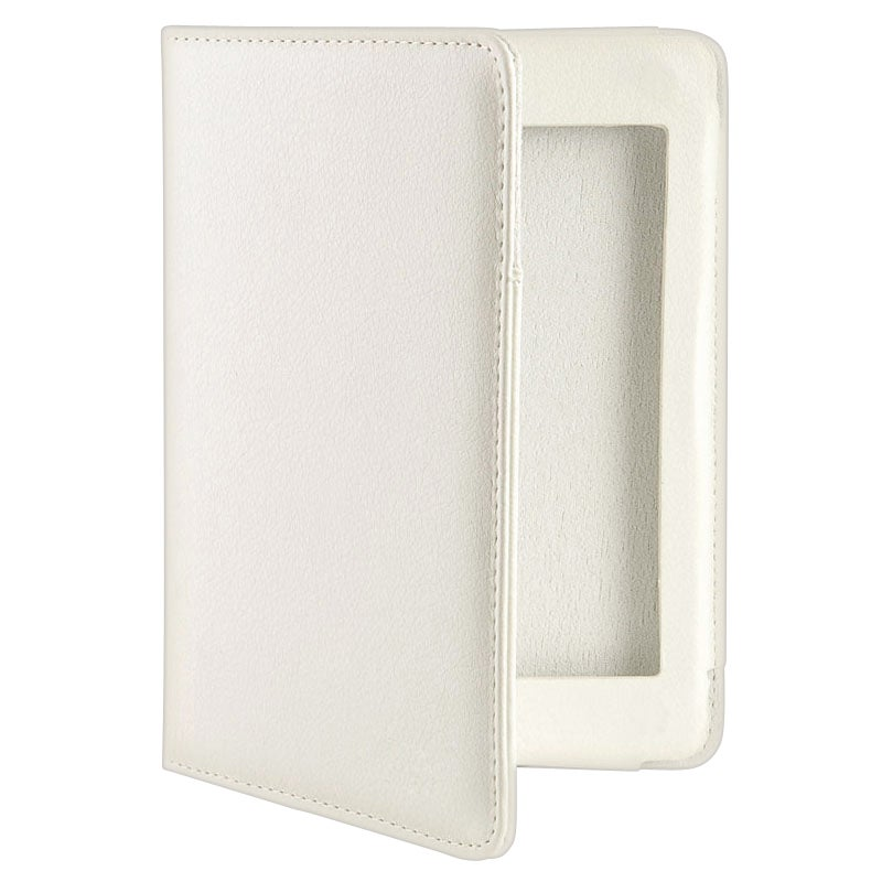INSTEN White Leather Phone Case Cover for Amazon Kindle Touch