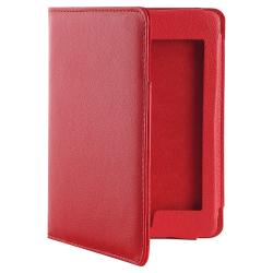 Red Leather Case for Amazon Kindle Touch